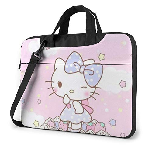 Birthday Hello Kitty Laptop Bag Busin Briefcase for Men Women, Shoulder Menger Laptop Sleeve Case Carrying Bag- 15.6 Inch