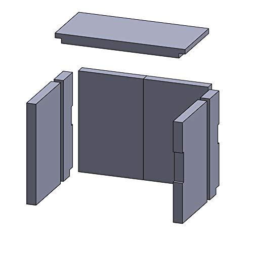 Kaminofen Schamottsteine passend für Wamsler Comfort Typ 10872, Montefon, Primo 10871 - Set 7-teilig Feuerraumauskleidung