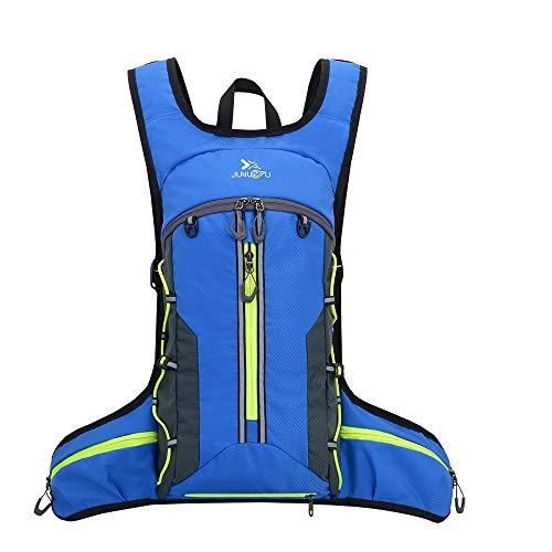 Ankuly サイクリングリュック 軽量 防水 豊かなポケット バックパック リュック アウトドア ジョギング スポーツバッグ 反射ストラップ付 (青)