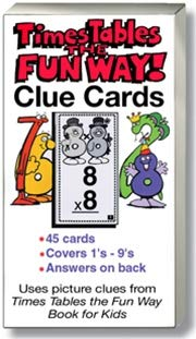 Times Tables the Fun Way: Clue Cards