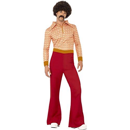 Amakando Kostüm Schlagerstar - L (52/54) - Retro Männerkostüm Saturday Night Fever Vintage Hippiekostüm Anzug mit Schlaghose 70er Jahre Outfit Herren