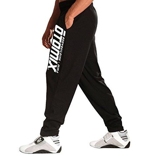 Otomix Men's Logo Black Baggy Workout Pants (Medium)