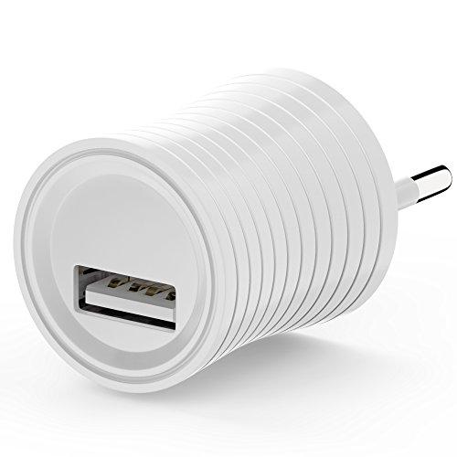 esorio fuente de alimentación USB enchufe adaptador de cargador enchufe de carga enchufe de red compatible para cargar cables Samsung, iPhone, iPad, cargador rápido de teléfono móvil, Xperia, LG