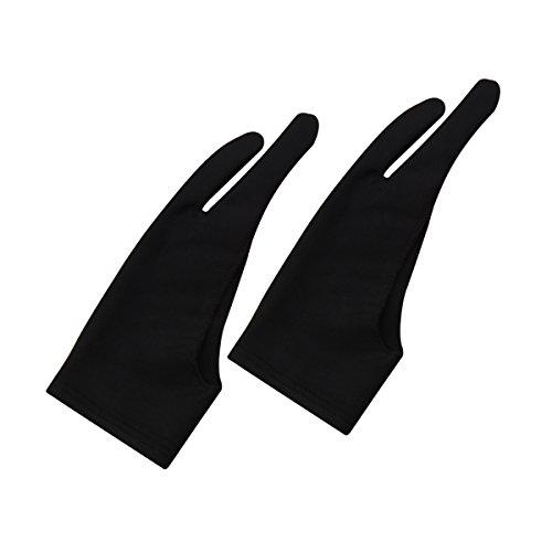 Wei Shang Artist Handschoen voor Graphic Tablet, Pack van 2 gratis grootte Nylon Handschoenen voor Tekenen