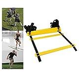 WNN-URG Agility Ladder, Football Speed Entrenamiento Kit, de Ejercicios rápido Juego de pies Taladros de, Ayuda al Deporte aparatos de Ejercicios de, for el fútbol/Baloncesto/Boxeo (12 Nudos)