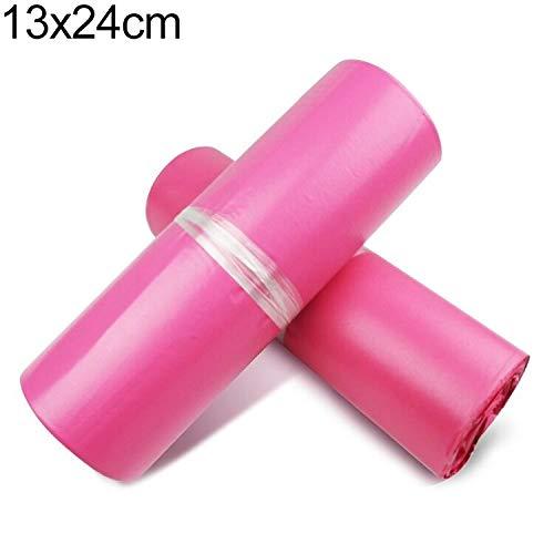 Fantastic Deal! YBLSMSH Thick Express Bag Packaging Bag Waterproof Plastic Bag, Size: 13x24cm (Pink)...