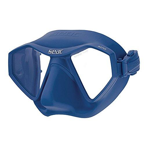SEAC M70 Low Volume - Free Diving | Apnea | Scuba Mask (Dual Lenses/Blue)