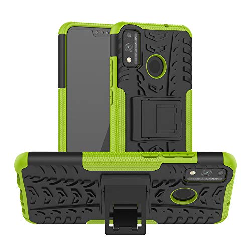 JZ Tire Pattern Funda For para Huawei Honor 9X Lite/Honor 8X with [Kickstand] Shockproof Scratch-Resistant Back Cover - Green