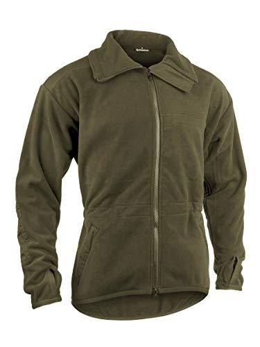 Alpinacke G3 zivil | Militärische Microfleece Jacke | Winddicht, Atmungsaktiv | Ideal für Outdoor Wandern Prepping (Large, steingrau)