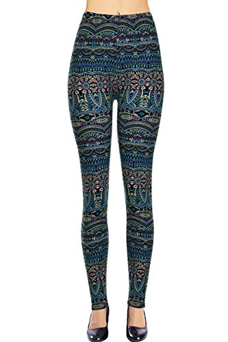 VIV Collection Printed Leggings (Atlantis)