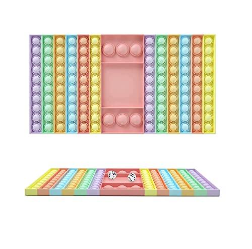N/A2 Big Pop XL Push Pop Fidget Juego de tablero de ajedrez Fidget Popper, juguete sensorial de burbujas para niños autismo aliviar el estrés