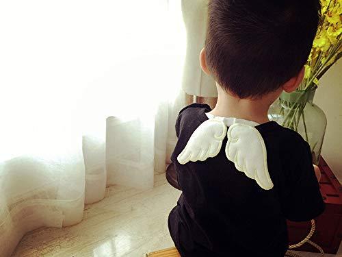 DETEKER 5枚セット エンジェル 汗取りパッド コットン100% 天使の羽付き 6重ガーゼ 無添加 無着色 吸水性 通気性 肌触り 春夏 秋冬 新生児 ベビー ギフト 男の子 女の子 汗とりパッド 汗っかきな 赤ちゃん に あせも 風邪 対策 天使シリーズ 6重ガーせ 吸汗
