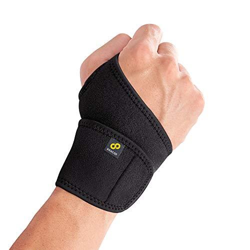 BRACOO WS10 Handgelenkbandage - Handgelenkstütze für Sport und Alltag - Wrist Wrap für Damen und Herren - schwarz