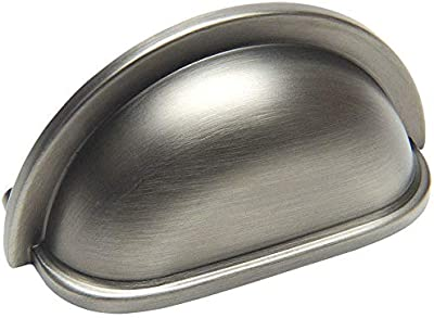 """10 Pack - Cosmas 4310AS Antique Silver Cabinet Hardware Bin Cup Drawer Handle Pull - 3"""" Inch (76mm) Hole Centers"""