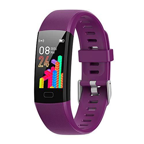 Kingshark Smart Watch frequenza cardiaca, Tracker Fitness attività, Monitor del Sonno, Batteria a Lunga Durata, contacalorie, Compatibile iOS e Android, Impermeabile IP69, Braccialetto contapassi