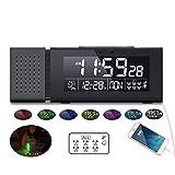 SOOTOP Reloj de alarma digital recargable de última generación, luz de noche colorida de la cabecera de la cama de detección humana multifuncional, adecuado para el hogar y regalos de vacaciones