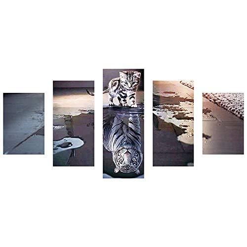 MOTOCO Les peintures carrées de Broderie de Foret Plein 5D Diamant DIY Broderie Diamant Diamond Painting kit Broderie(C:Chat)