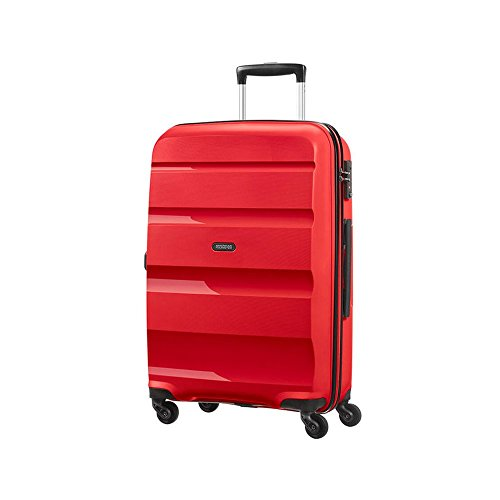 American Tourister Bon Air, Spinner M Valigia, 66 cm, 57.5 liters, Rosso (Magma Red)