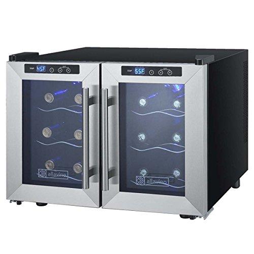 Allavino CDWR12-2SFT Cascina Series Thermoelectric 12 Bottle Dual Zone Wine Refrigerator