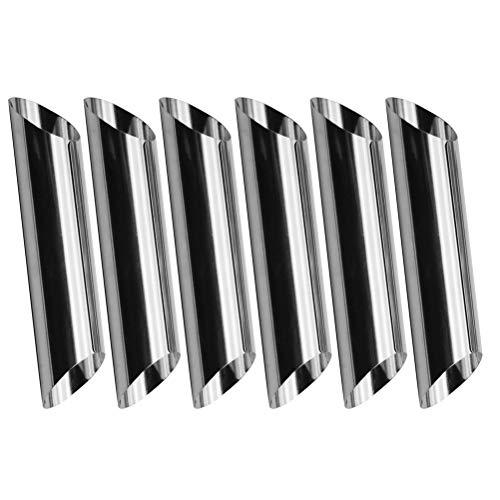 BESTONZON 6 pezzi Cannoli Tubi in acciaio inox Cannoli Forme Stampi per pasticceria