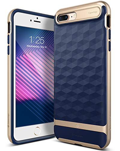 Caseology Parallax for Apple iPhone 8 Plus Case (2017) / for iPhone 7 Plus Case (2016) - Award Winning Design - Navy Blue