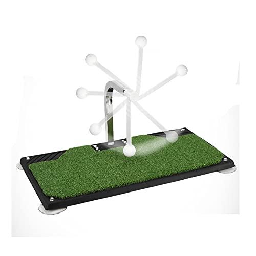 Plegable Mini Golf Swing Practice Mat, Herramienta de práctica residencial de golf portátil Asistencia de entrenamiento de astillas con vara giratoria de 360 °, 63 × 34 cm Portátil ( Color : BLACK )