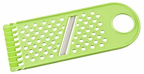 FACKELMANN 1Messer Gemüsehobel 1 Messer, Edelstahl, Grün/Silber, 22 x 8cm