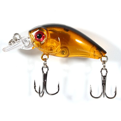 Nichhany Señuelos de Pesca 9 unids/Bolsa señuelos de Pesca de plástico Anzuelo lubina pequeña Grasa Crankbait Aparejos 4,5 cm/4g