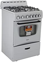 "AVANTI GR2414CW Gas Range Sealed Burners, 24"", White"