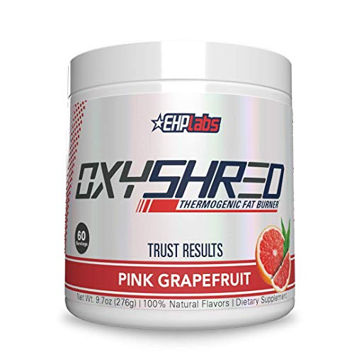 OxyShred Thermogenic Fat Burner by EHPlabs - Weight Loss Supplement, Energy Booster, Pre-Workout, Metabolism Booster (Pink Grapefruit)