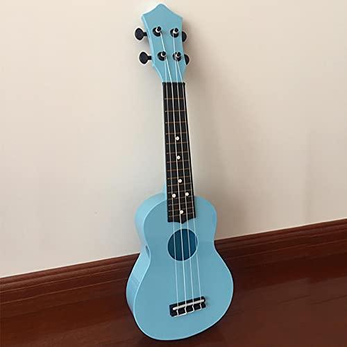 KEPOHK Colorido 21 pulgadas 4 cuerdas Hawaii Guitarra portátil para niños Regalo Mini Instrumentos 21 pulgadas Azul