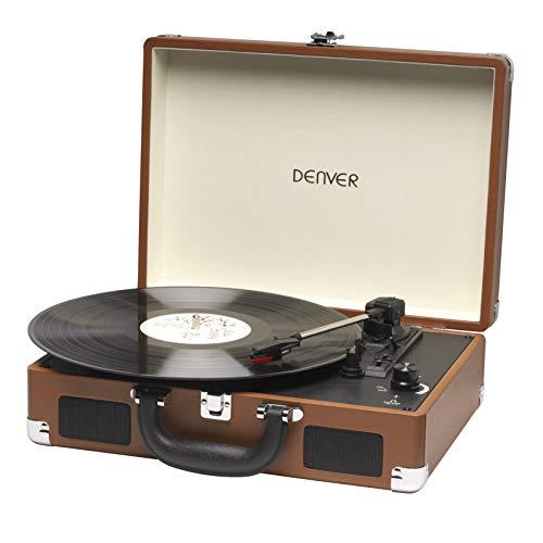 Denver Plattenspieler 3-Gang 33 1/3,45,78 RPM 2x1W Braun VPL-118