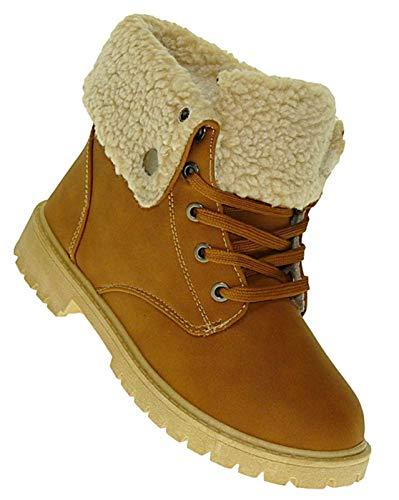 Bootsland 611 Winterstiefel Damenstiefel Stiefel Winterschuhe Damen, Schuhgröße:37