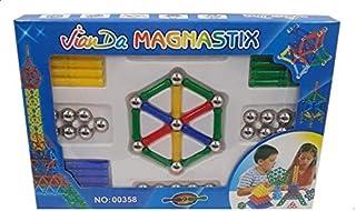 لعبة تركيب العيدان المغناطيسية ماجنا ستيكس للاطفال من جيان دا، 84 قطعة - متعددة الالوان