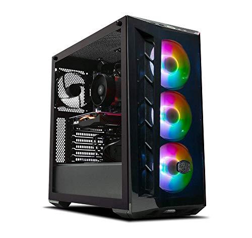 ADMI Gaming PC: Ryzen 3700X 8 Core 4.3GHz CPU, Radeon RX 5700XT 8GB, 16GB 3000MHz, Liquid Cooled, 240GB SSD + 1TB HDD, MB520 RGB Case, 650W PSU, 300Mbps Wifi, Windows 10