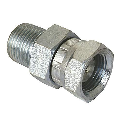 Apache 39004225 1/4' Male Pipe x 3/8' Female Pipe Swivel, Hydraulic Adapter