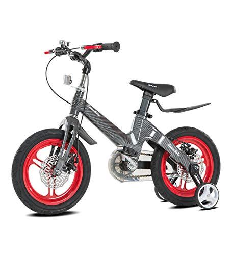 SJSF Y Bici per Bambini Freestyle, Ruote da 12-14-16-18 Pollici, Bicicletta per Bambini con Ruota di Allenamento, Freno a contropedale, Regalo assemblato per Ragazzi e Ragazze,Red,18inches