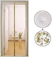YX Magnetic Fly Screen Door マグネットフライ昆虫スクリーンドア、スクリーンドア、自動的に閉まる折りたたみ式開閉が簡単、虫除け、新鮮な空気