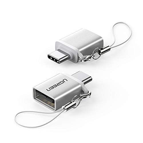 UGREEN USB C to USB 3.0 Adapter 2 Pack, Type C Male to USB Female OTG Adapter,Thunderbolt 3 to USB Adapter Compatible with MacBook Air 2020, iPad Pro 2020, Galaxy Note20 Ultra and More (Sliver)