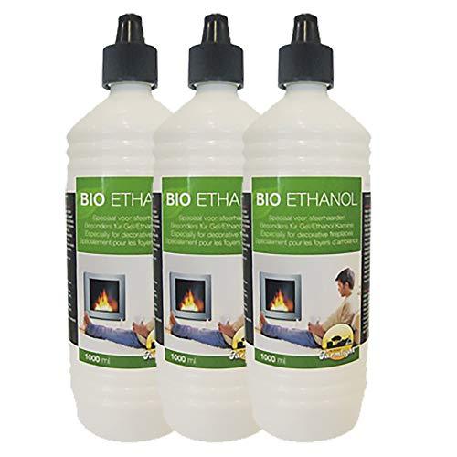 Farmlight 3 Liter Bio-Ethanol> 95{0e169c607a83dfd1c29489016f23601b115484972e46290e355f98484500d0fb} - 96,6{0e169c607a83dfd1c29489016f23601b115484972e46290e355f98484500d0fb} Premium für Ethanolkamine Gelkamine Bambusfackeln Rückstands lose Verbrennung aus nachwachsenden Rohstoffen