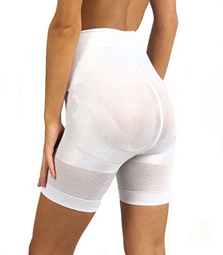 Ladymissalonghi Slim Fit Short Slank Mieder Fietsbroek zwart Skin of wit Maat S-XXXL