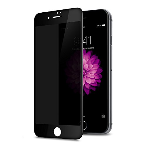 TECHO Privacy Screen Protector for Apple iPhone SE 2020   iPhone 8 7 6S 6, Anti Spy 9H Tempered Glass, Edge to Edge Full Cover [Full Coverage]