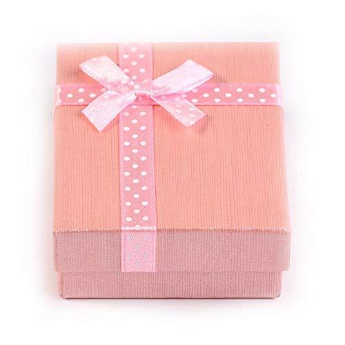 Himmel und Erde decken Papierbox Geschenkbox Verpackung Bogen Knoten Box Ring Box-Pink