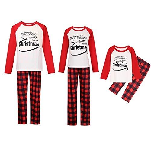 Conjuntos de Pijamas a Juego de Navidad PJs con Camiseta de Manga...