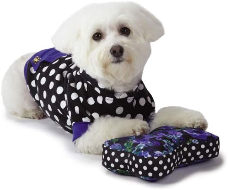 M. Isaac Mizrahi Floral Dot Bone Dog Toy
