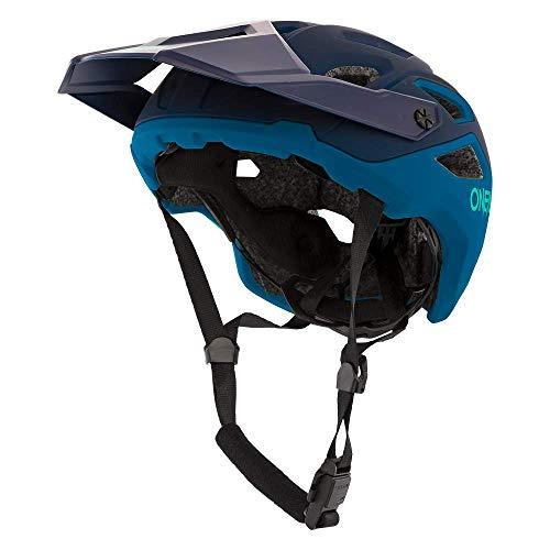 O'NEAL | Mountainbike-Helm | Enduro Trail Downhill | Schweißabsorbierendes Innenfutter, erfüllt Sicherheitsnorm EN1078 | Helmet Pike Solid | Erwachsene | Blau | Größe S/M (55-58cm)