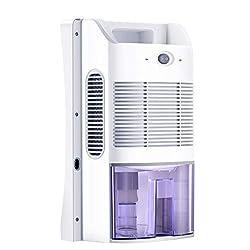 ★ Haute Efficacité: Éliminez jusqu'à 700 ml d'humidité par jour (86, 85% d'humidité relative) et ce déshumidificateur d'air est doté d'un grand réservoir d'eau amovible de 2 000 ml (68 oz). Protège votre maison de la moisissure causée par un excès d'...