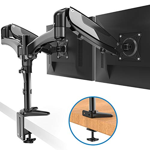 HUANUO Dual Monitor Stand - Height Adjustable Gas Spring Monitor...