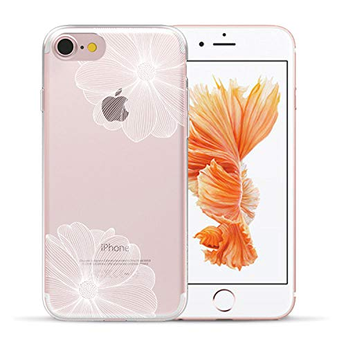 Sexy Retro Floral Silicone Case for Coque for iPhone 5 5S Se 6 6S 7 8 Plus X Xs Max Xr Lace Flower Phone Soft TPU Back Cover,12,for iPhone 7 Plus