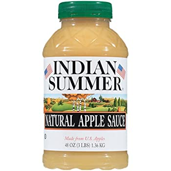 Indian Summer Apple Sauce Natural 48 Ounce  Pack of 8